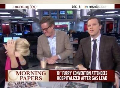 News video: MSNBC Host Runs Off Set After Learning About Furries